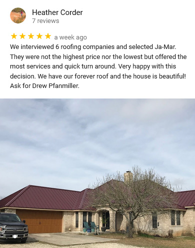 Austin Jamar Roofing review